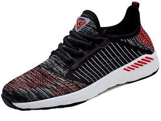 Fly London KUIBU Women Lightweight Sport Breathable Slip-On Platform Toning Shoes Weave High Heel Sneaker Athletic
