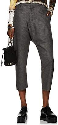 R13 Women's Wool-Cashmere Tailored Drop-Rise Trousers - Gray