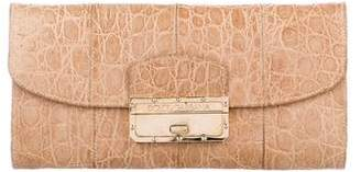 Dolce & Gabbana Embossed Leather Flap Clutch