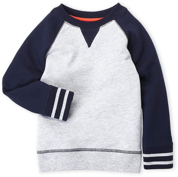 French Toast (Toddler Boys) Color Block Raglan Sweatshirt