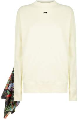 Off-White Off White Floral Insert Sweater