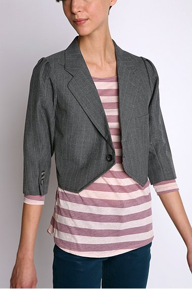 Urban Renewal Cropped Suit Jacket