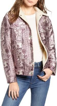 Scotch & Soda Fleece Lined Print Trucker Jacket