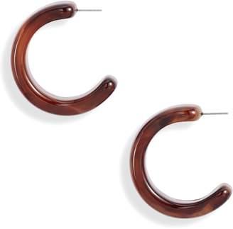 Halogen Resin Hoop Earrings