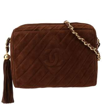 Chanel Pre-Owned 1995's quilted fringe CC single chain shoulder bag