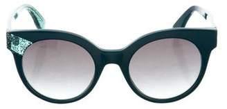 Jimmy Choo Gradient Round Sunglasses