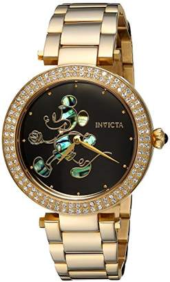 Invicta Women's 'Disney Limited Edition' Quartz Gold-Tone and Stainless Steel Casual Watch