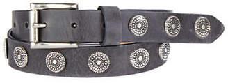 Brave Beltworks Bella Pewter-Studded Leather Belt