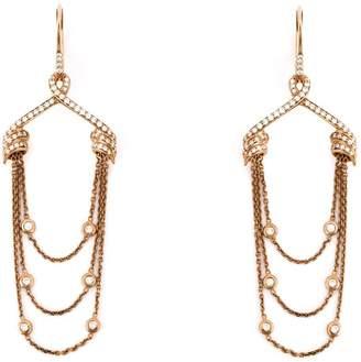 Stephen Webster draped diamond earrings