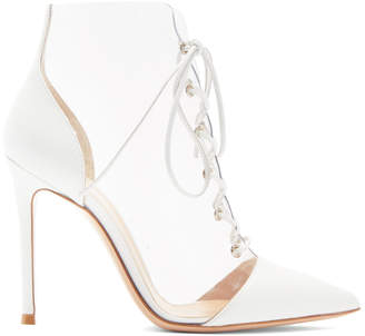 Gianvito Rossi White PVC and Leather Boots