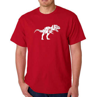 LOS ANGELES POP ART Los Angeles Pop Art Tyrannosaurus Rex Short SleeveWord Art T-Shirt - Big and Tall