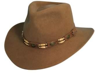 Scala Crushable Wool Felt Outback Hat