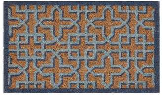 Pottery Barn Shadow Trellis Doormat - Blue Multi