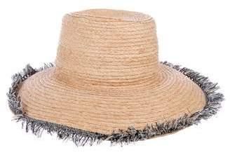 Barneys New York Barney's New York Fringe-Trimmed Raffia Hat