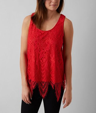 Fire Eyelash Lace Tank Top $29.95 thestylecure.com