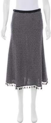 Derek Lam Tassel-Trimmed Knit Skirt w/ Tags