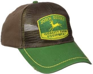 John Deere Men's Vintage Logo Reverse Trucker