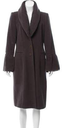 Giorgio Armani Bell Sleeve Angora Coat