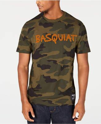 Sean John Men Basquiat Signature Camouflage Graphic T-Shirt