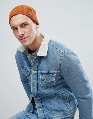 Jack and Jones Beanie In Rib Cotton Mix