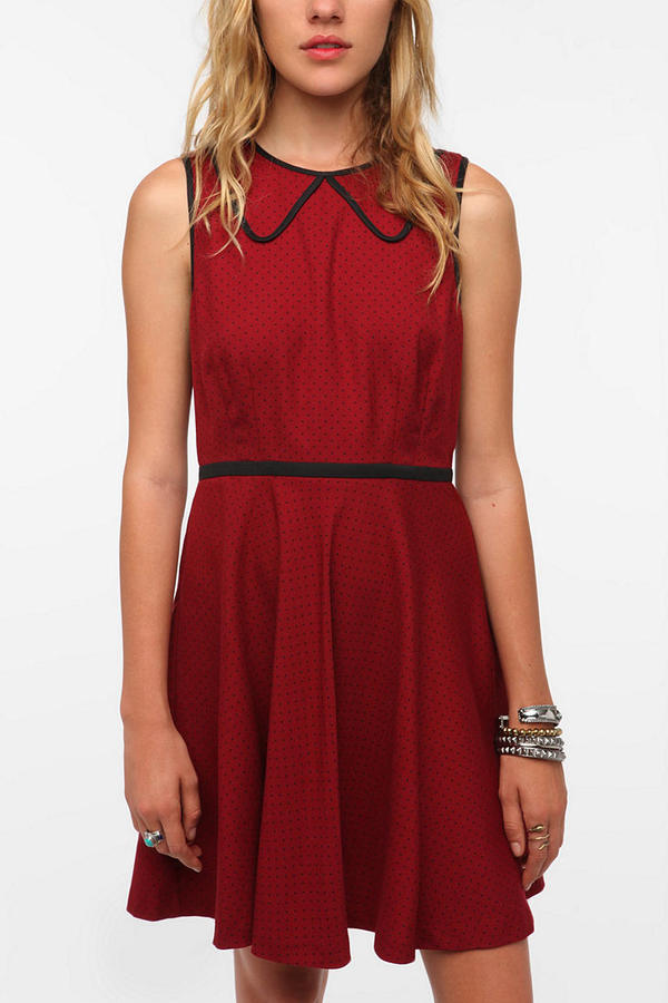 Coincidence & Chance Twill Piped Collar Dress