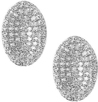Links of London Sterling Silver Diamond Essentials Pavé Concave Earrings
