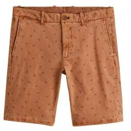 Mango Man MANGO MAN Printed cotton bermuda shorts