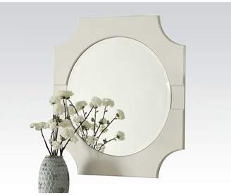 ACME Furniture Florissa Wall Mirror, Antique White