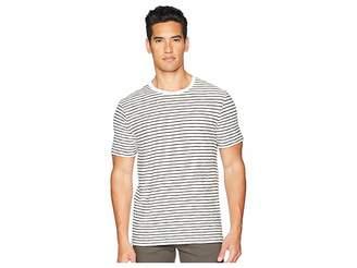 Vince Slub Reverse Stripe Crew Neck T-Shirt