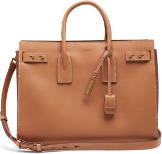 SAINT LAURENT Sac De Jour medium leather tote $3,550 thestylecure.com