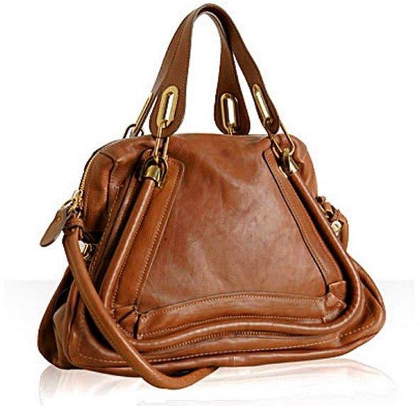 Chloe wood leather 'Paraty' medium top handle bag