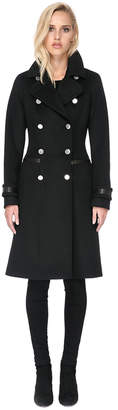 Soia & Kyo JULIANA slim-fit double-breasted wool coat with notch collar