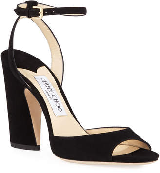Jimmy Choo Miranda Suede Strappy Sandals