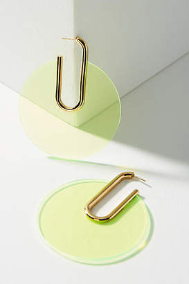 Sabrina Dehoff Berlin Lucite Hoop Earrings