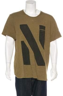 Rag & Bone Printed Scoop Neck T-Shirt