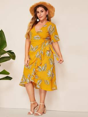 f5a6be0590 Shein Yellow Plus Size Dresses - ShopStyle