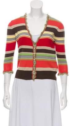 Dolce & Gabbana Striped Knit Cardigan