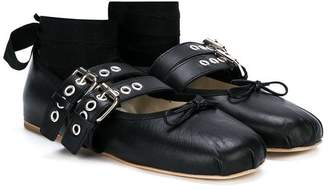 Douuod Kids TEEN multi-strap ballerinas