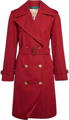 Burberry Oversized Lapel Cotton Gabardine Trench Coat