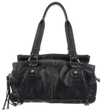 Hayden Harnett Contrast-Stitched Leather Shoulder Bag