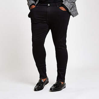 River Island Big and Tall black super skinny jeans