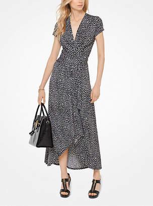 Michael Kors Cheetah Matte-Jersey Wrap Dress