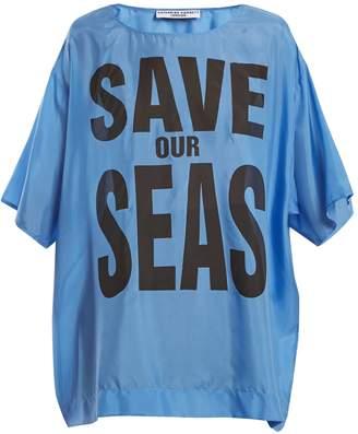 Katharine Hamnett Save Our Seas print silk T-shirt