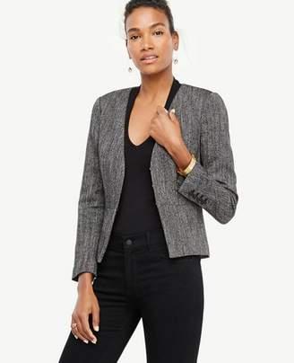 Ann Taylor Herringbone Peplum Jacket