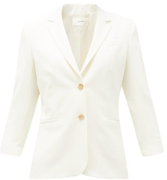 The Row Schoolboy Wool Blend Blazer - Womens - White