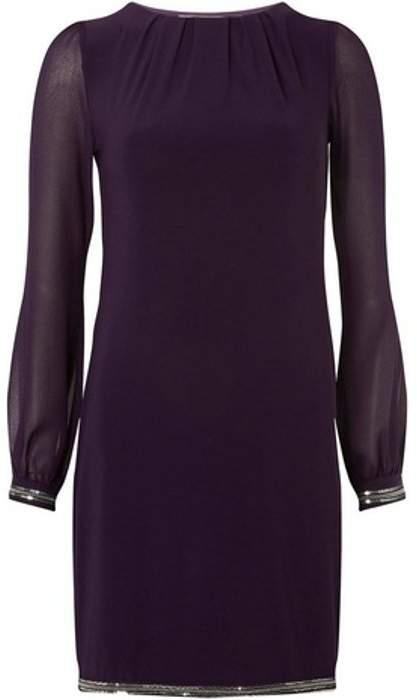 Womens **Billie & Blossom Purple Shift Dress