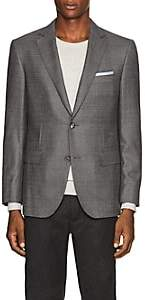 Pal Zileri MEN'S CHECKED WOOL TWO-BUTTON SPORTCOAT - GRAY SIZE 42 R