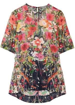 Lela Rose Floral-print Cotton-voile Top