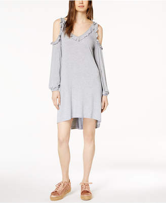 39134600c42 ... Kensie Ruffled Cold-Shoulder Dress