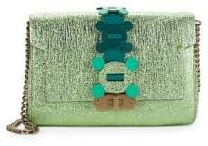 Anya Hindmarch Bathurst Metallic Leather Convertible Clutch